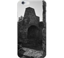 Old furnace in a medieval castle iPhone Case/Skin