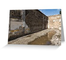 Reflecting on Ancient Pompeii - Quiet Sunny Courtyard Greeting Card
