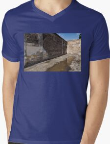 Reflecting on Ancient Pompeii - Quiet Sunny Courtyard Mens V-Neck T-Shirt