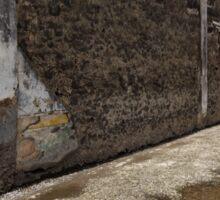 Reflecting on Ancient Pompeii - Quiet Sunny Courtyard Sticker