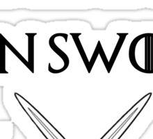 fear cuts deeper than swords -s Sticker