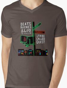 Beats Rhymes & Life - the travel of Mens V-Neck T-Shirt