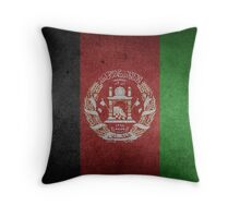 Afghanistan Flag Grunge Throw Pillow