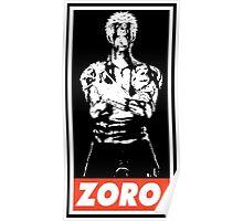 Roronoa Zoro Obey Poster