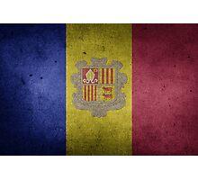 Andorra Flag Grunge Photographic Print
