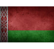 Belarus Flag Grunge Photographic Print