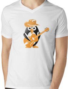 Penguin guitarist Mens V-Neck T-Shirt