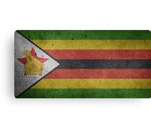 Zimbabwe Flag Grunge Canvas Print