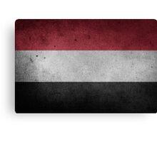 Yemen Flag Grunge Canvas Print