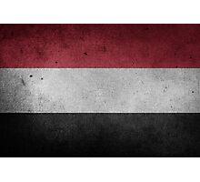 Yemen Flag Grunge Photographic Print