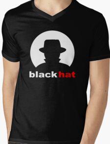 Black Hat Mens V-Neck T-Shirt