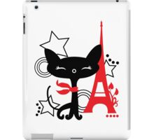 Cat silhouette in France iPad Case/Skin