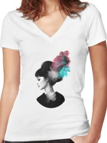 Friday, I'm in love. Women's Fitted V-Neck T-Shirt