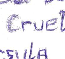 Sea Devil, Cruella, Ursula Blue Ink Sticker