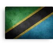 Tanzania Flag Grunge Canvas Print
