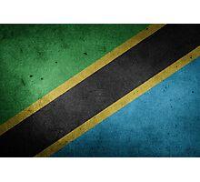 Tanzania Flag Grunge Photographic Print
