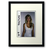 Kate Upton Polaroid Framed Print