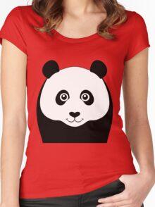 PANDA PORTRAIT Women's Fitted Scoop T-Shirt