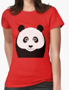PANDA PORTRAIT Womens Fitted T-Shirt