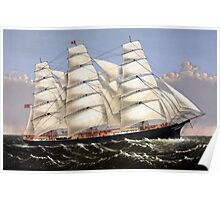 Clipper Ship Three Brothers Poster