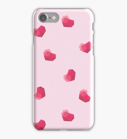 Polygonal beautiful hearts iPhone Case/Skin