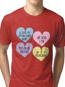 Melanie Martinez Lyric Conversation Hearts Tri-blend T-Shirt