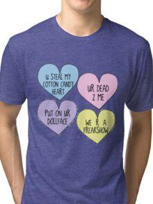 Melanie Martinez Lyric Conversation Hearts Tri-blend T-Shirt