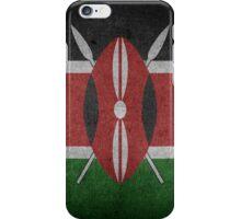 Kenya Flag Grunge iPhone Case/Skin