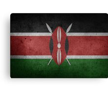 Kenya Flag Grunge Canvas Print