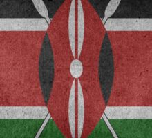 Kenya Flag Grunge Sticker