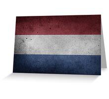 Netherlands Flag Grunge Greeting Card