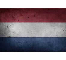 Netherlands Flag Grunge Photographic Print