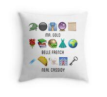 Gold Family Throw Pillow
