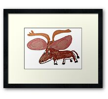 Xander The Moose With The Big Ears Framed Print