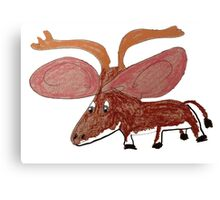 Xander The Moose With The Big Ears Canvas Print
