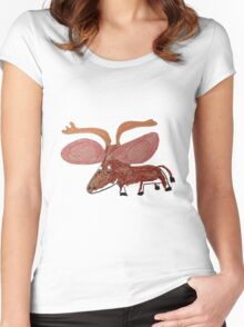 Xander The Moose With The Big Ears Women's Fitted Scoop T-Shirt