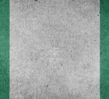 Nigeria Flag Grunge Sticker