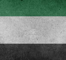 United Arab Emirates Flag Grunge Sticker