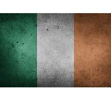 Ireland Flag Grunge Photographic Print