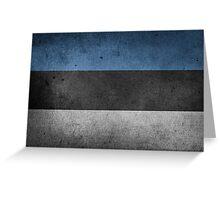 Estonia Flag Grunge Greeting Card