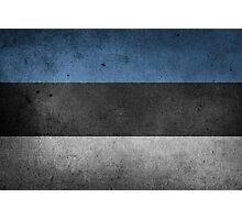 Estonia Flag Grunge Photographic Print