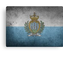 San Marino Flag Grunge Canvas Print
