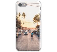 Sun sets in the village iPhone Case/Skin