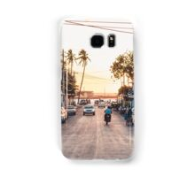 Sun sets in the village Samsung Galaxy Case/Skin