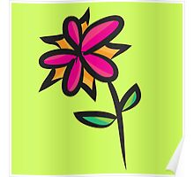 Double Color Flower Poster