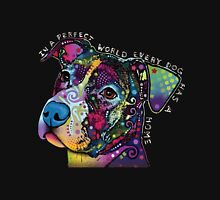 In a perfect world every dog has a home Women's Fitted Scoop T-Shirt
