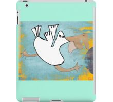 Tilly Pelican Takes A Leap Of Faith iPad Case/Skin