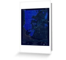 USGS TOPO Map Hawaii HI Makena 349563 1954 24000 Inverted Greeting Card