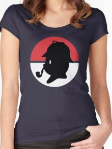 Pikachu Holmes Profile Women's Fitted Scoop T-Shirt
