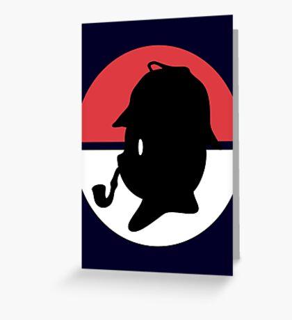 Pikachu Holmes Profile Greeting Card